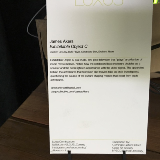 Luxus Exhibition: James Akers - Exhibited Object C