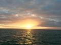 Sun setting over lagoon