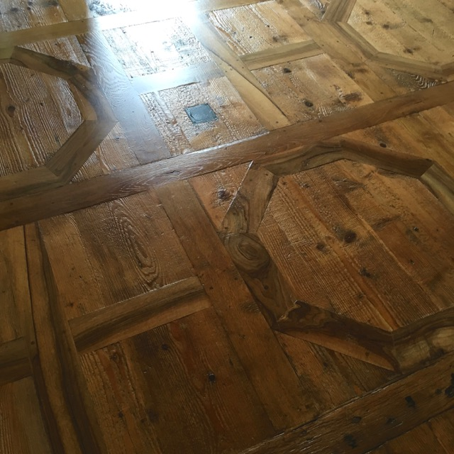 Inlaid wooden floors